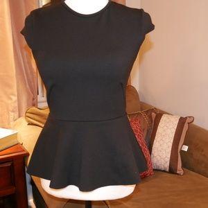 H&M black peplum blouse